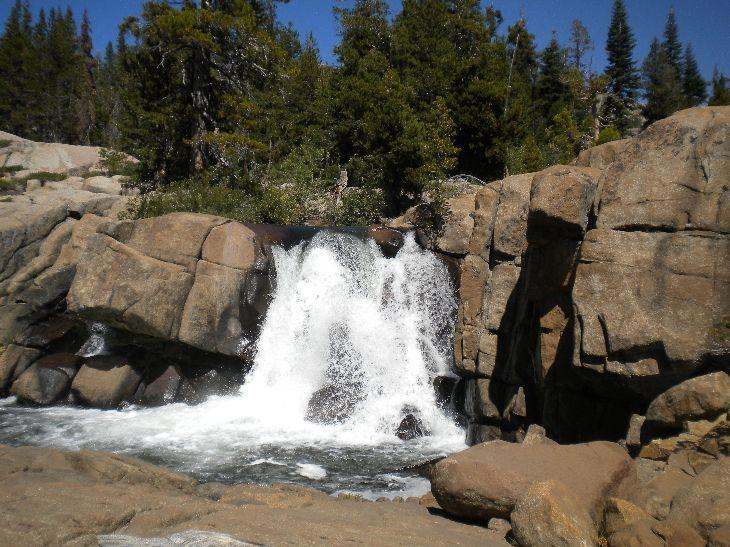 A pretty waterfall on Caples Creek